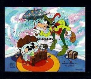 GRENADA - 1987 - DISNEY - GOOFY - ANDERSEN - SANDMAN - MINT - MNH S/SHEET!