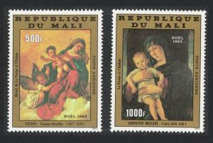 Mali Titian Bellini Christmas Religious Paintings issue 1982 2v SG#945-946