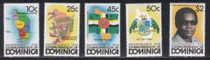 Dominica # 602-606, Independence Issue, Hinged, 1/3 Cat