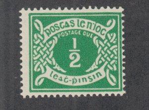 Ireland Sc J5 MLH. 1943 ½p emerald Postage Due, fresh, bright