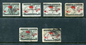 x501 - Canada Lot of (7) Christmas Map 1899 Issue Stamps