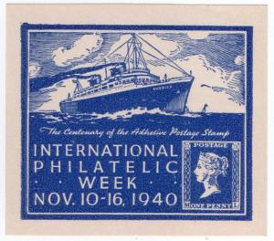 (I.B) US Cinderella : International Philatelic Week (1940)