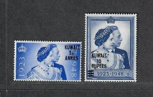 Kuwait Sc#82-83 M/NH/VF, Silver Wedding, Cv. $45.50