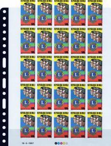 Mali 1987 Lions International Full Shlt (25) IMPERF.Sc#C539