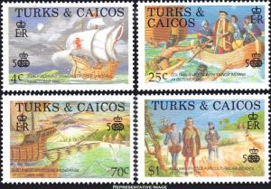 Turks and Caicos Islands Scott 734-737 Mint never hinged.