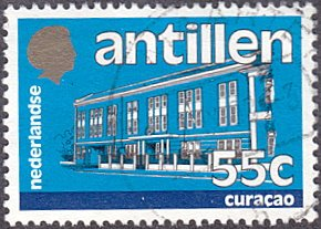 Netherlands Antilles # 504 used ~ 55¢ Government Building - Curaçao