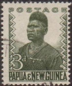 Papua New Guinea 1952 SG5 3d Native policeman FU