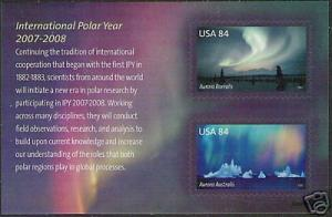 #4123 Polar Lights S/Sheet of 2 - MNH