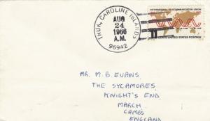 TRUK CAROLINE ISLANDS COVER 1966