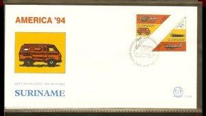 1994 - Rep. Surinam FDC E178 - Organizations - U.P.A.E. America - Antique and...