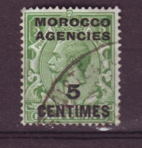 J13776 JLstamps 1925-6 great britain used #411 morocco agencies ovpt