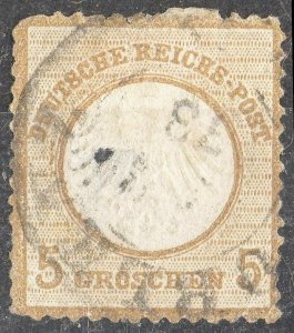 GERMANY Sc #6 (small shield) USED