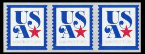 US 5172 Patriotic USA Nonprofit 5c coil strip (3 stamps) MNH 2017