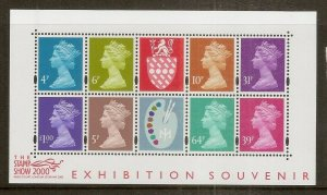 GB 2000 Stamp Show Exhibition Souvenir Mini Sheet MNH