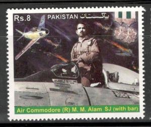 Pakistan 2014 Air Commodore M. M Alam SJ Aviation Recipient of Sitara MNH # 4216