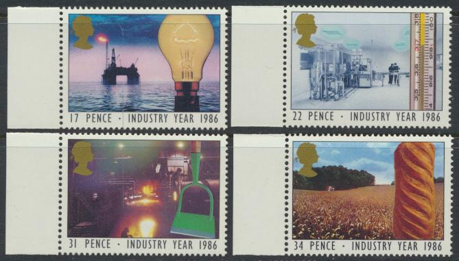 GB SG 1308 - 1311  SC# 1129-1132 Mint Never Hinged - Industry Year