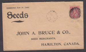 NEW BRUNSWICK SPLIT RING TOWN CANCEL COVER CARTERS POINT