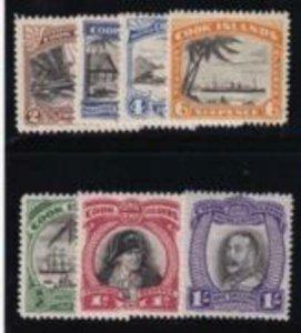 Cook Islands 1932 SC 84-90 MLH Set