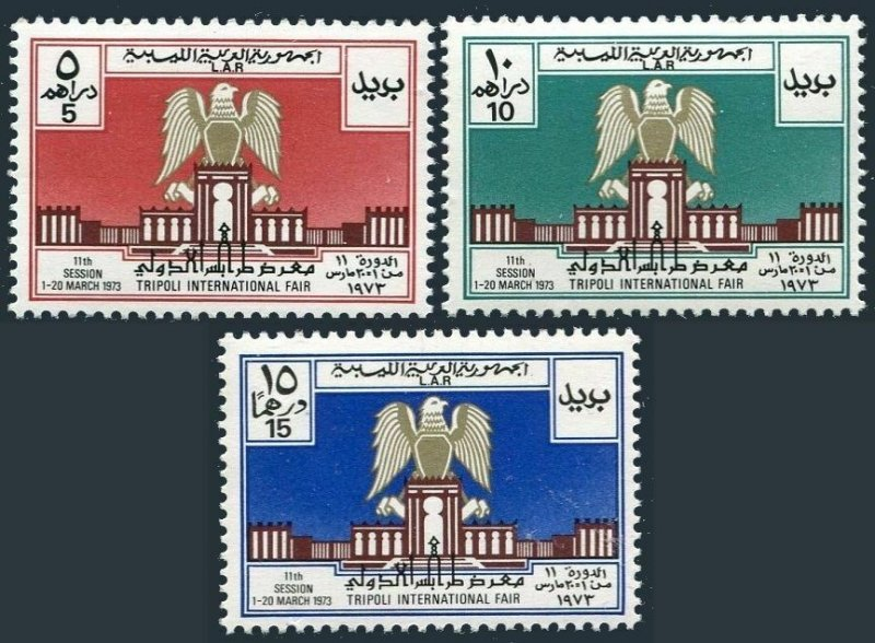 Libya 491-493, MNH. Michel 407-409. International Fair at Tripoli, 1973.