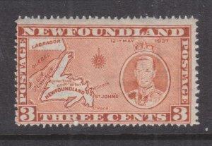 NEWFOUNDLAND, 1937 Coronation, 3c. Orange Brown, Die I, line perf. 14, mnh.