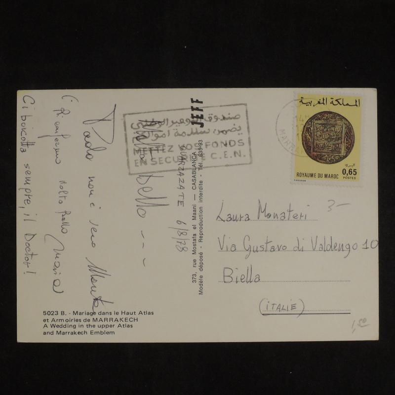 ZS-X782 MOROCCO IND - Coins, 1978, Great Franking To Italy Postcard
