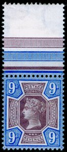 SG209 SPEC K38(1), 9d dull purple & blue, NH MINT. Cat £110.