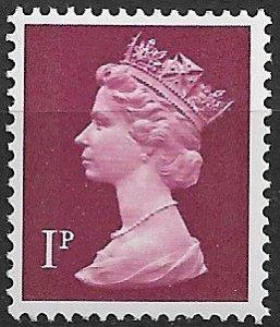 1971 Great Britain Machins #MH23 Queen Elizabeth 1p MNH