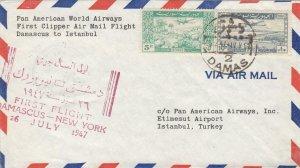 1947, 1st Flt., Damascus, Syria to Istanbul, Turkey (32348)