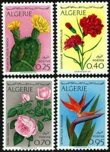 Algeria #411-14  MNH - Flowers Cactus Roses Carnations (1969)
