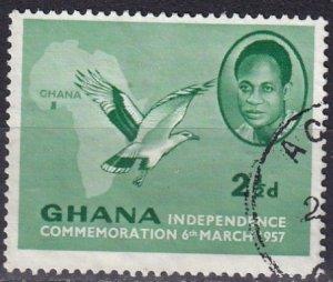 Ghana #2 F-VF Used (SU7842)