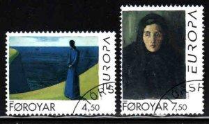Faroe Islands # 302-03 ~ Cplt Set of 2 ~ CTO, HMR