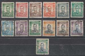 SOUTHERN RHODESIA 1937 KGVI SET