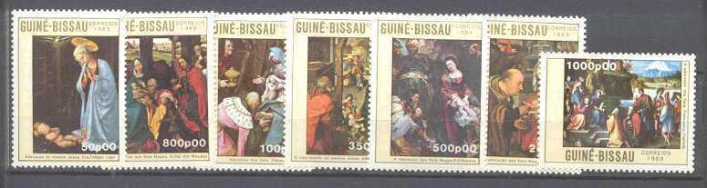 Guinea Bissau 865-71 MNH Painting SCV18