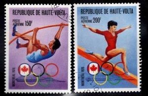 Burkina Faso Upper Volta Scott C231-C232 Used Montreal Olympics set