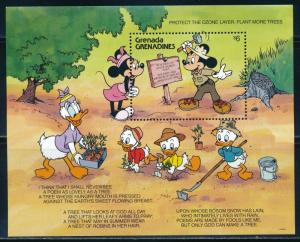 Disney Grenada Grenadines - MNH Souvenir Sheet Plant More Trees #1298 (1991)