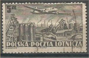 POLAND, 1952, used 5z, Warsaw. Scott C31
