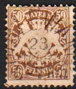 Mi: 46   Used   1878  Cat  €  40.00  bavaria