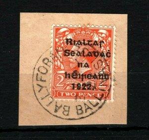 IRELAND 1922 Free State Overprints EIRE *Ballyforan Ballinasloe* Galway MS2260