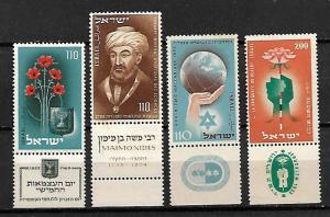 ISRAEL. SET OF STAMPS FROM 1953. TAB, MNH