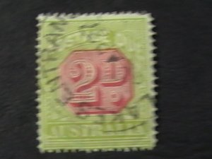 AUSTRALIA # J53-USED---POSTAGE DUE---1922