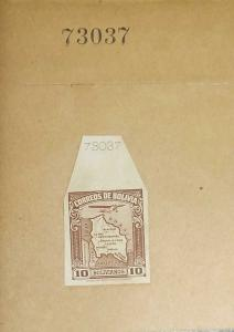 O) 1935 BOLIVIA, INDEX DIE PROOF, MAP SCT C51 10b brown - AMERICAN BANK NOTE, XF