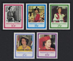 Tristan da Cunha Royal Ruby Wedding 5v SG#438-442