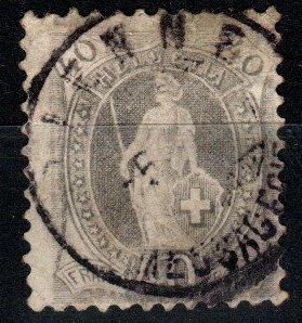 Switzerland #84 F-VF Used  CV $60.00  (X1414)