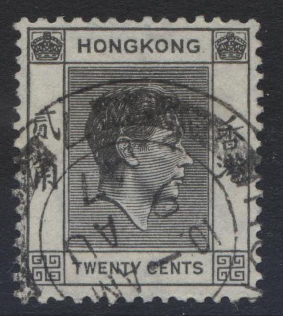 Hong Kong - Scott 159A - KGVI Definitive Issue- 1938 - FU - Single 20c Stamp