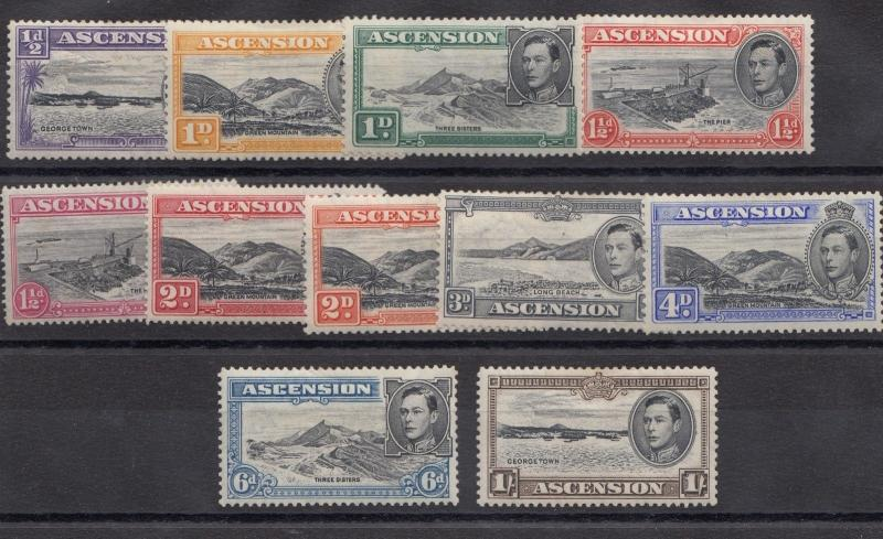 Ascension Island 1938 Set To 1/- MLH X9907