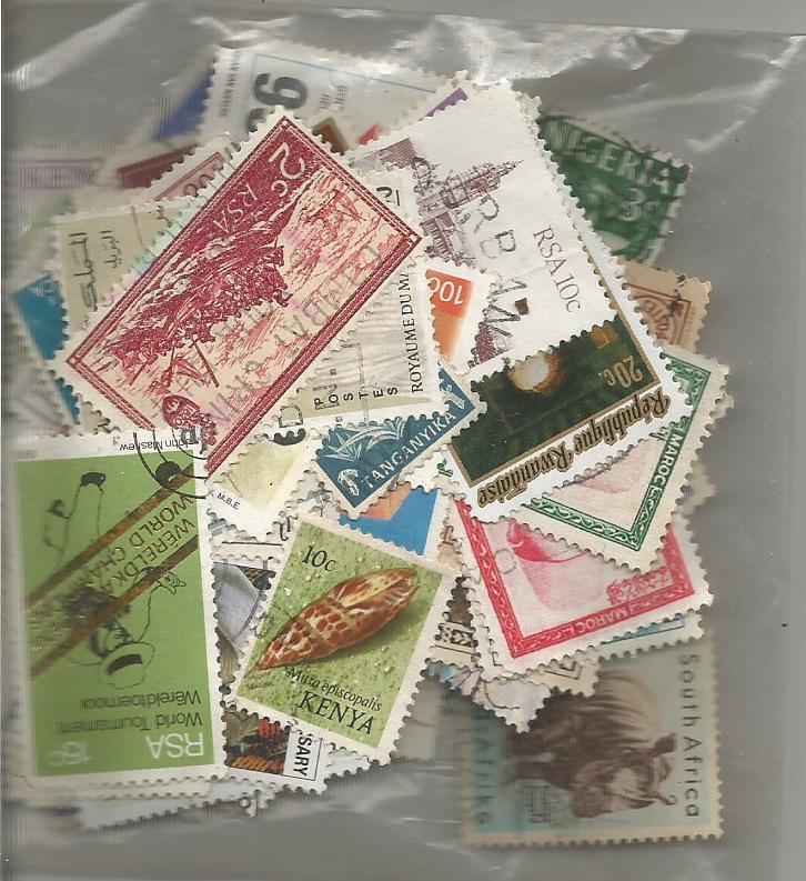 Africa 100 used and mint