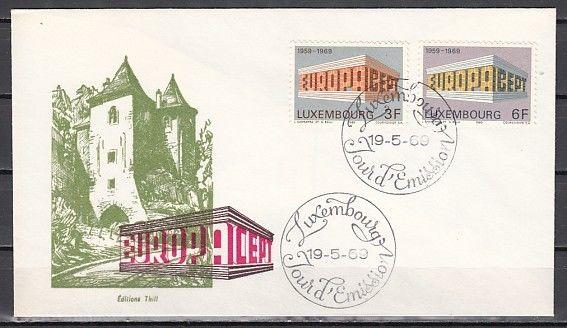 Luxembourg, Scott cat. 475-476. Europa issue. First day cover.