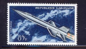GABON 1962 MNH SC.C10 Rocket-propelled aircraft,space