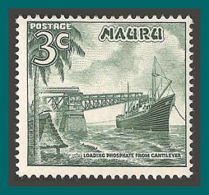 Nauru 1966 Phosphate Loading, 3c MNH 60,SG68