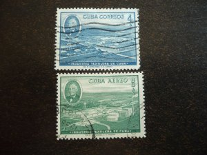 Stamps - Cuba - Scott# 590,C178 - Used Set of 2 Stamps